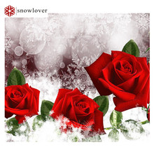 Diy diamond drawing 5D square diamond painting red rose complete drill painting Rhinestone Cross Stitch
