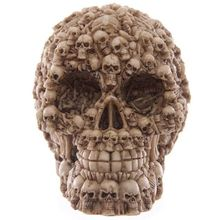 Skull Head Halloween Creative Skull Bones Decorated Resin Ornaments Intensive Skeleton Headset Decoration Halloween Gift(China)