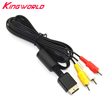 High quality Audio Video AV Cable to RCA For PlayStation for for PS2 for PS3 for Sony Full needle(China)