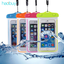 Haobuy Universal Luminous Waterproof Sport Phone Pouch Back Case For Smartphone iPhone Samsung Lanayrd Watertight PVC Cover