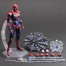 28cm Spiderman Play Arts Kai Super Hero Spider-Man PVC Action Figure Toys Collectors Model With Box