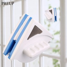 PREUP Useful Window Glass Cleaner Tool Double Side Magnetic Cleaning Brush Wiper Surface Brush Magnetic Window Cleaner(China)