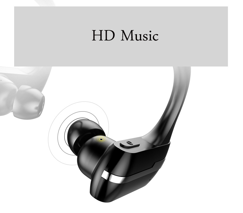 2017 ZHIBANG Sweatproof Bluetooth earphone Wireless headphones for sport Earbuds with microphone headset stereo headphone