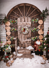 HUAYI Christmas Photography Backdrop Scenery Custom Photo Portrait Studios Background Christmas door backdrop XT4978(China)