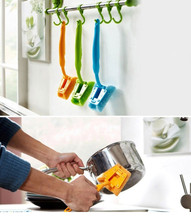 2017 New product high quality Kitchen Cleaning Brush Sink Pot Washing Tool Brush Handle Sponge Cleaner Pennello di Pulizia(China)