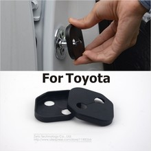 4Pcs/Lot Car Door Lock Cover For Toyota RAV4/Corolla/New Reiz/E'Z/Vios/Camry/Highlander/YARiS/Prado/Prius/Crown/Land Cruiser