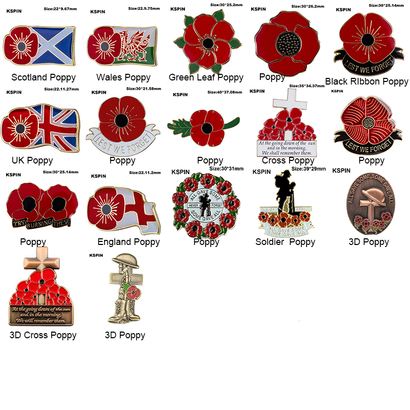 at the going down of the sun poppy lapel badge british army remember them legion