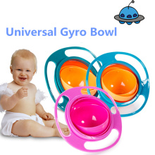 Universal Gyro Bowl Practical Design Children Rotary Balance Bowl Novelty Gyro Umbrella Bowl 360 Rotate Spill-Proof Bowl(China)