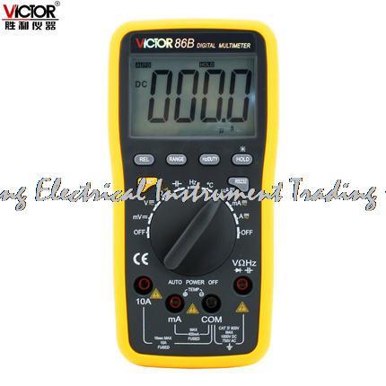 Fast arrival LCD display VICTOR 86B 3 3/4 Digital Multimeter DMM digital multipurpose meter with USB<br>