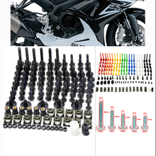 76 PCS Universal Motorcycle Fairing Body Bolts Spire Screw Spring Nuts FOR KAWASAKI H2 Street Versys 650 1000 ZRX1200 ZZR1200