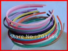 12PCS Spring Series Assorted Colors 7mm Plastic Hair Headbands with flat face and small teeth at matt finish,BARGAIN for BULK