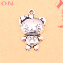 10pcs Tibetan Silver Plated bear baby Charms Pendants for Necklace Bracelet Jewelry Making DIY Handmade 29*23mm