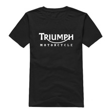 Free shipping TRIUMPH MOTORCYCLE cotton leisure T-shirt man tshirt euro size short sleeve O neck t-shirts wholesale crime