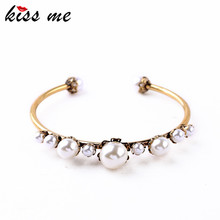 From Indian Channel Bracelet Femme My Orders New Simulated Pearls Bangles Factory Wholesale