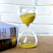 Creative Transparent 30 Minutes Glass Sand Timer Clock Hourglass Sandglass Home Decor Wedding Decoration Accessories Gifts