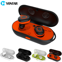 VONTAR Wireless Earbuds Sweat Proof Twins earphone Portable Bluetooth headphone with charging box Anti-Drop TWS Headset