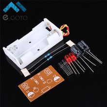 DIY Flash Circuit Multivibrator LED Flashing Circuit Suite Electronic Production Teaching Training Parts IC Parts