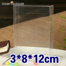 10 pcs/lot3*8*12cm pvc box / package box / case & display / gifts & crafts / clear container(China)