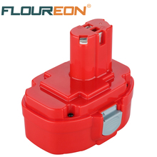 FLOUREON 14.4V 3.0Ah Ni-MH 193158-3 Rechargeable Power Tool Battery for Makita PA14 JR140D 1420 1422 1433 1434 1435F 192699-A