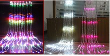 Led Waterfall String Curtain Light 6M * 1.5m 300 Leds Water Flow Christmas Wedding Party Holiday Decoration Fairy String Lights(China)