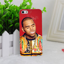 A2422 Chris Brown Smoking Transparent Hard Thin Case Cover For Apple iPhone 4 4S 5 5S SE 5C 6 6S 6Plus 6s Plus