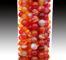Wholesale Red  Beads Round Carnelian Selectable 4 6 8 10 mm Natural Stone Beads For Jewelry Making DIY Bracelet Necklace