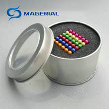 Magnet Toy Set 4mm and 5mm Spheres and Cubes NdFeB Magnetic Magic Toy Kit Neodymium Magnets Rare Earth Magnets(China)