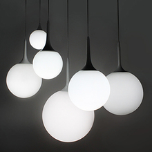 Modern lamps Ball Pendant Lights Glass Bubble Ball Lamp Lighting For Dinning Room,E27 bulb 110V 220V(China)