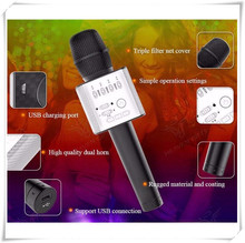 Free shipping Hot selling 2017 English version Q9 portable bluetooth wireless microphone Q9 for smart mobile phone