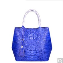 pulafu Crocodile skin woman bag crocodile leather lady bag Leisure women handbag lady handbag crocodile skin black(China)