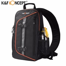 K&F CONCEPT Waterproof Camera Bag Professional Shoulder Sling Backpack Case Tripod with Rain Cover For Canon Nikon DSLR Camera(China)