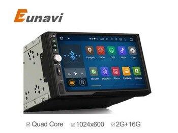 1024 * 600HD Полный Сенсорный Экран android 5.1 Автомобиль Мультимедиа Плеер Для универсальный Quad Core Android Двухместный 2 Дин Радио Глава блок