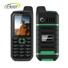 4000mAh Battry VKWorld Stone V3 Plus Mobile Phone 2.4 inch IP54 Waterproof Elder Man FM Radio Dual SIM GSM   CellPhones
