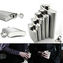 Cool Mini Stainless Steel Hip Liquor Whiskey Alcohol Flask Cap 4 6 8 10oz+Funnel