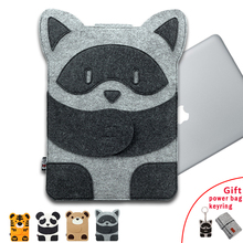 2017 New Laptop Bag for MacBook Air Pro 11 12 13 14 15 Laptop Sleeve Case for Mac 13.3 Inch Cute Cartoon Characters + Free Gift