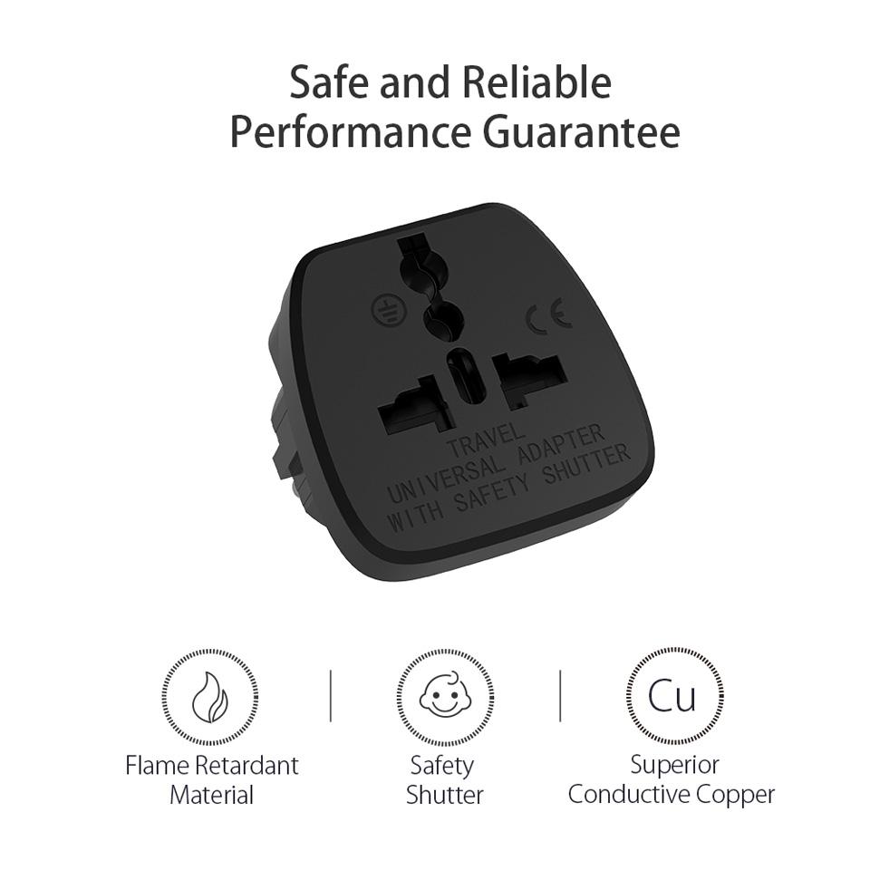 Universal Travel Adapter European Plug (3)