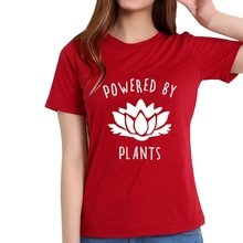 Buy 2018 Vegetarian Vegan POWERED BY PLANTS Fashion T Shirt Women Harajuku Tumblr Cute Tumblr Femme Funny Female T Shirt Tops for $5.60 in AliExpress store