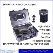 "30m 3MP 360Degree Rotation Under Water Deep Water Fishing Fish Finder Video Camera  W/ 7"" TFT Color Screen English User Manual"