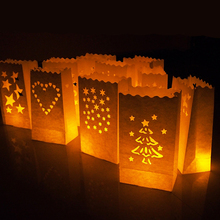 20Pcs Festival Lantern Paper Lantern Candle Bag Outdoor Lighting Candles for Wedding Decorations Event Pary Supplies 10 Patterns