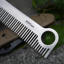 EDC Gear Hair Comb Stainless Steel Care Tactical Pocket Comb Outdoor Camping Tool Pure Titanium Material For Men And Women