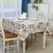Pronovias eiffel tower nordic waterproof linen table cloth lattice decorated