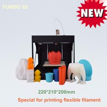 2016 newest factory supply 220*210*200mm printing size fully assembled high resolution professional Fundo desktop 3D printer
