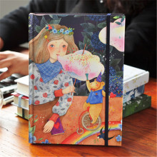 Notebook daily journal paper colorful illustrations hard copybook travel A5 fairytale art Grid printing fitted original books(China)
