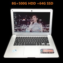 1920*1080P 14 inch Laptop In-tel J1900 8G+750GB +64GB SSD Quad-Core Windows7/8/10 Wifi notebook tablet PC Ultrabook Computer(China)