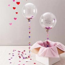 24 Inch Clear Latex Confetti Balloons Helium Balloons Set Wedding Birthday Party Events DIY Decoration Gadgets Supplies