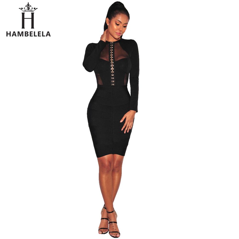 Hambelela 2017 Sexy Bodysuits Women Black Long Sleeve Button Hook Mesh Rompers Sheath Playsuit Bodycon Harajuku Club Jumpsuits (3)
