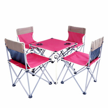 Outdoor Fishing Chairs Camping Folding Picnic Table and Chair Oxford Ultralight Beach Folding Fishing Camping Chair Table Set(China)