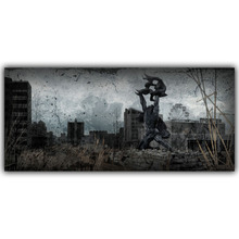 Living Room Home Wall Decoration Silk Fabric Poster S.T.A.L.K.E.R. 2 Call of Pripyat Radioactive Video Games YX1204