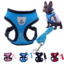 Cute Small Nylon Dog Harness Cat Pet Harness set Chihuahua Yorkie Pet dog Accessories Dog Lead Pet Shop Supplies Pet Dog Collars(China)