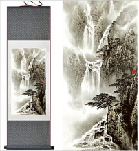Mountain and River painting Chinese scroll landscape art painting home decoration picture(China)